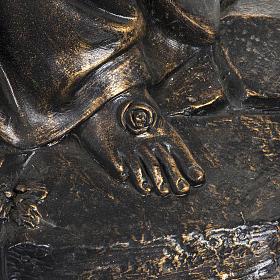 Madonna di Lourdes 100 cm resina finitura bronzo Fontanini s5