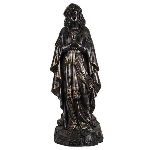 Madonna di Lourdes 100 cm resina finitura bronzo Fontanini 1