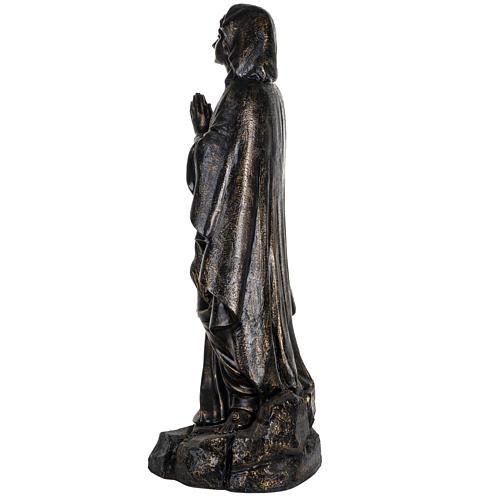 Madonna di Lourdes 100 cm resina finitura bronzo Fontanini 6