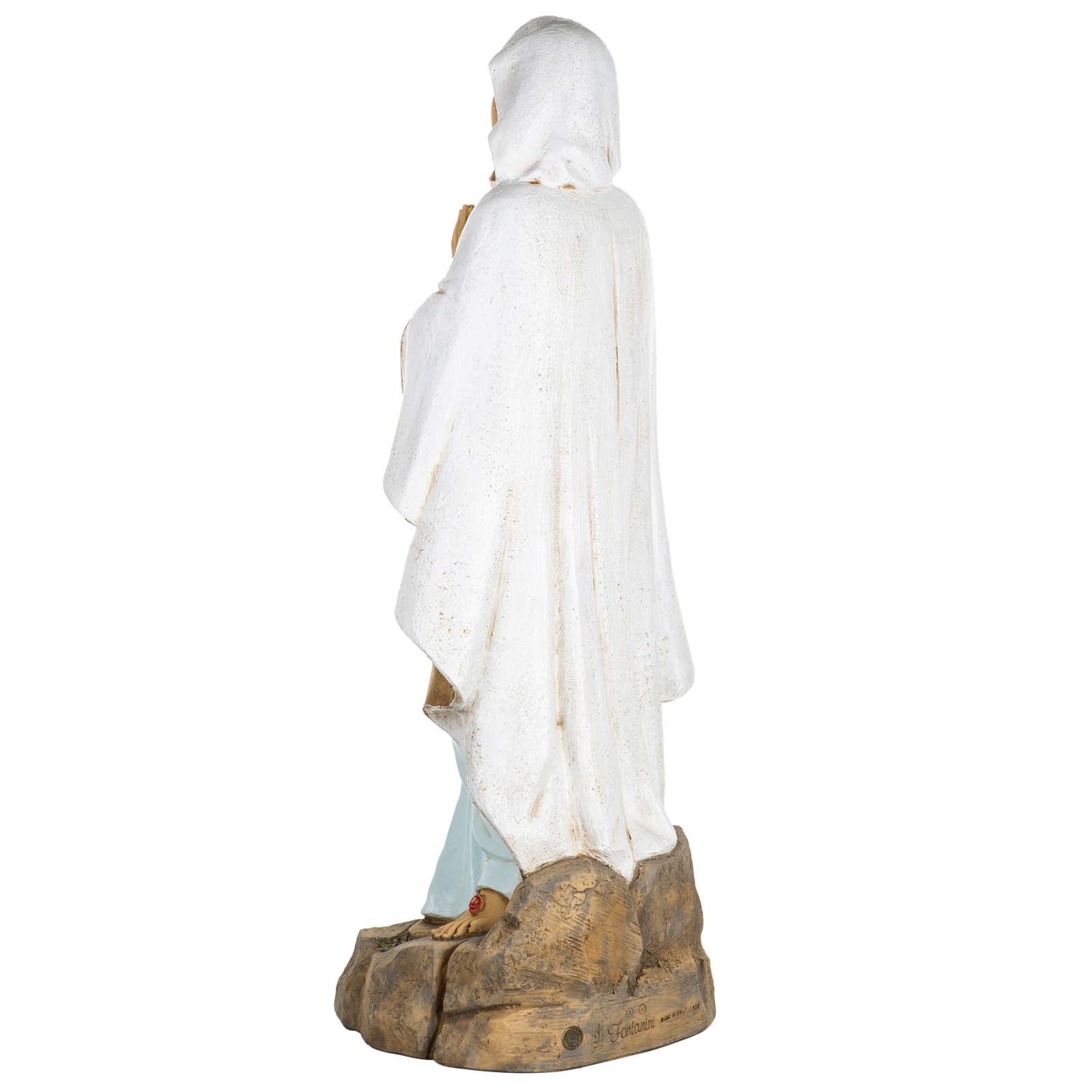 Vierge de Lourdes 100 cm résine Fontanini 4