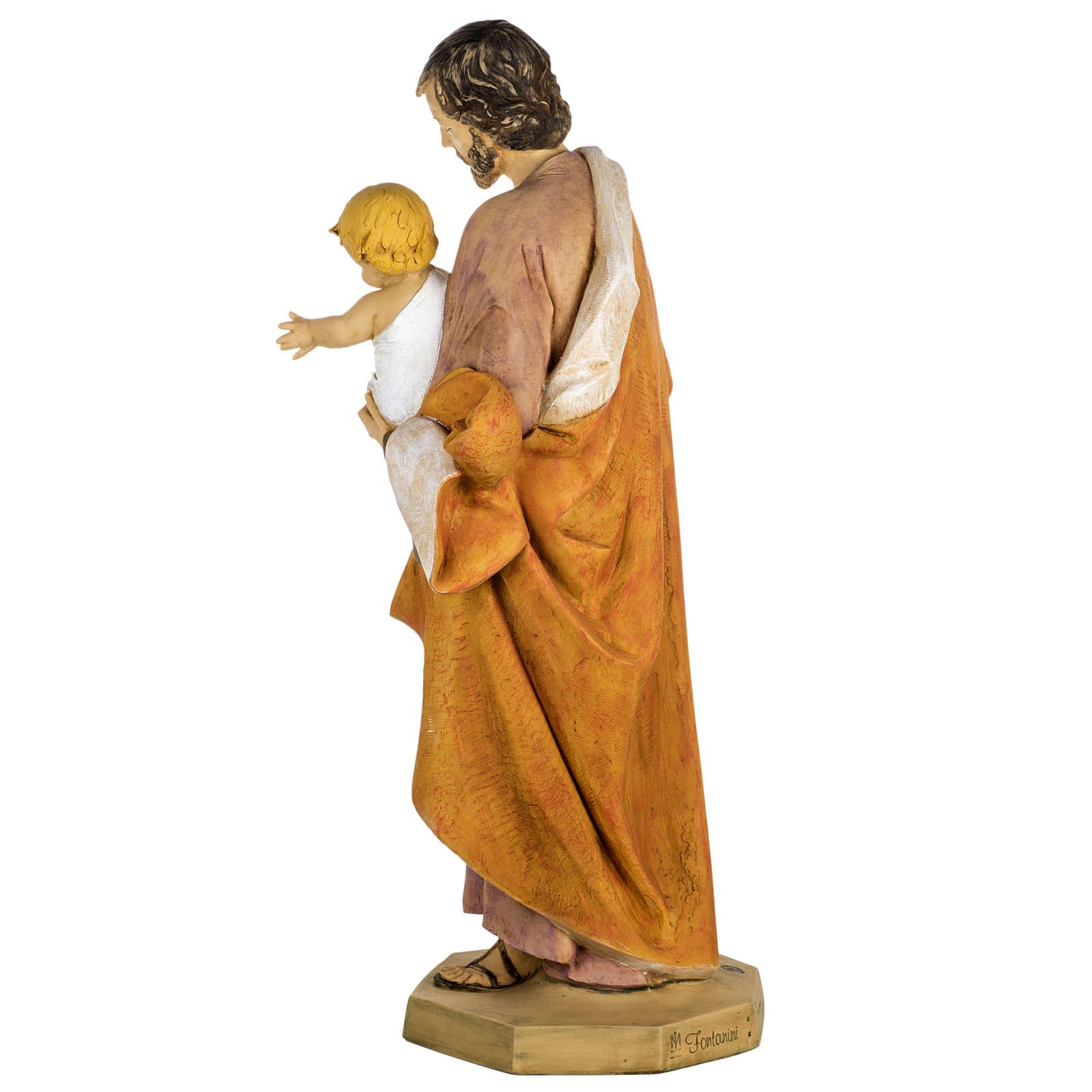 Statue Heiliger Josef aus Harz 100cm, Fontanini 4