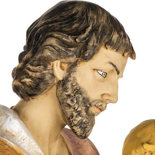 Statue Heiliger Josef aus Harz 100cm, Fontanini 7
