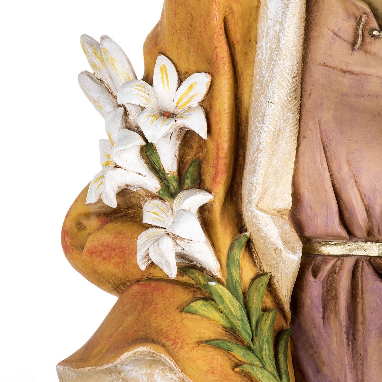 Statue St Joseph 100 cm résine Fontanini 4