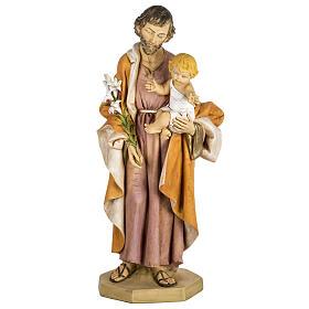 Statue St Joseph 100 cm résine Fontanini s1