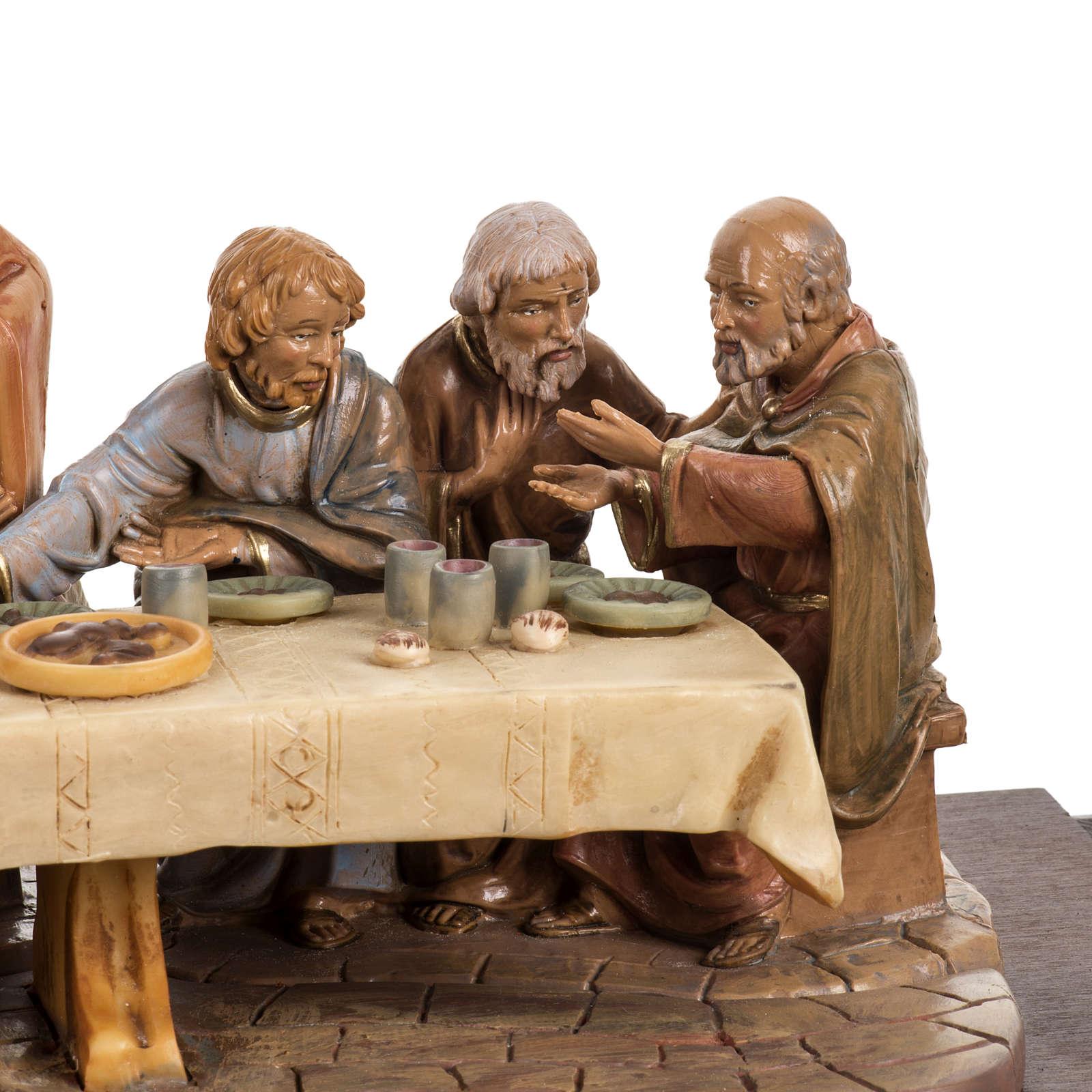 Abendmahl mit Holz Basis 12cm, Fontanini 4
