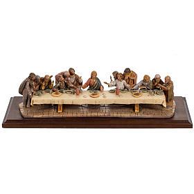 Statuen aus Kunstharz und PVC: Abendmahl mit Holz Basis 12cm, Fontanini