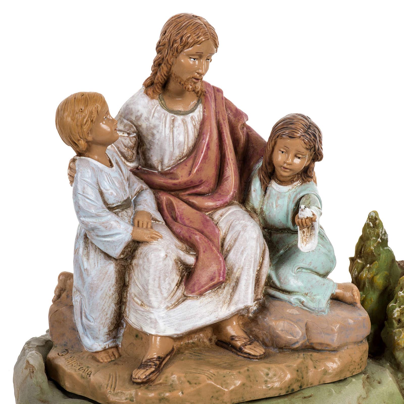 Jésus et les enfants 12 cm Fontanini 4