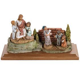 Jésus et les enfants 12 cm Fontanini s1