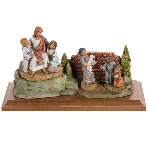 Jésus et les enfants 12 cm Fontanini 1