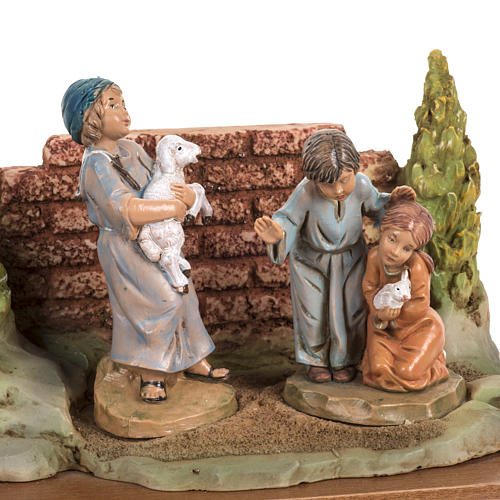 Cristo con i bambini 12 cm Fontanini 3