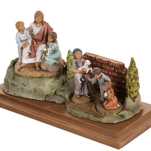 Cristo con i bambini 12 cm Fontanini 4