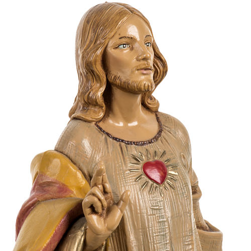Sagrado Corazón de Jesús 30 cm. Fontanini similar madera 3