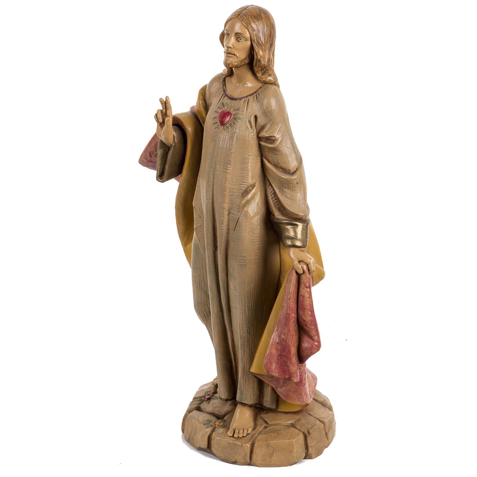 Sacro Cuore Gesù 30 cm Fontanini tipo legno 4
