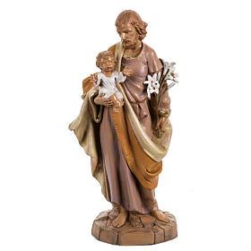 Statue Heiliger Josef 30cm Holz Finish, Fontanini s1