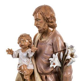 Statue Heiliger Josef 30cm Holz Finish, Fontanini s2