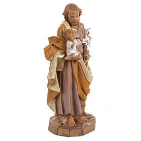 Statue Heiliger Josef 30cm Holz Finish, Fontanini s3