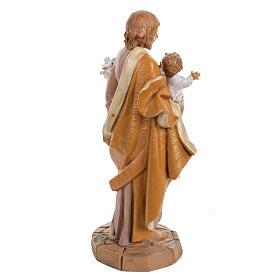 Statue Heiliger Josef 30cm Holz Finish, Fontanini s4