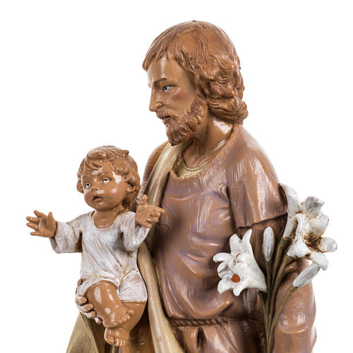 Statue Heiliger Josef 30cm Holz Finish, Fontanini 2