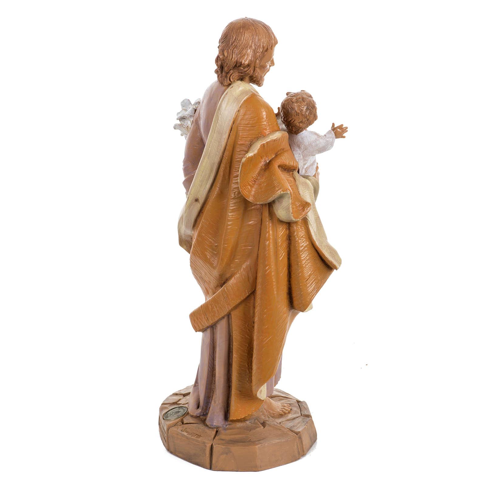 San Giuseppe 30 cm Fontanini tipo legno 4
