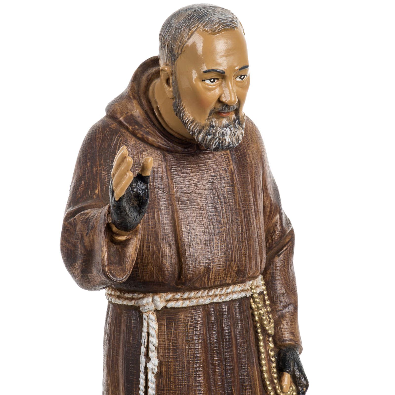 Padre Pio 30 cm Fontanini tipo legno 4