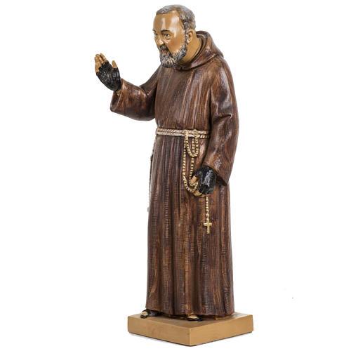 Padre Pio 30 cm Fontanini tipo legno 2