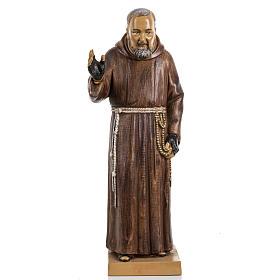 Imagens em Resina e PVC: Padre Pio de Pietrelcina 30 cm Fontanini efeito madeira
