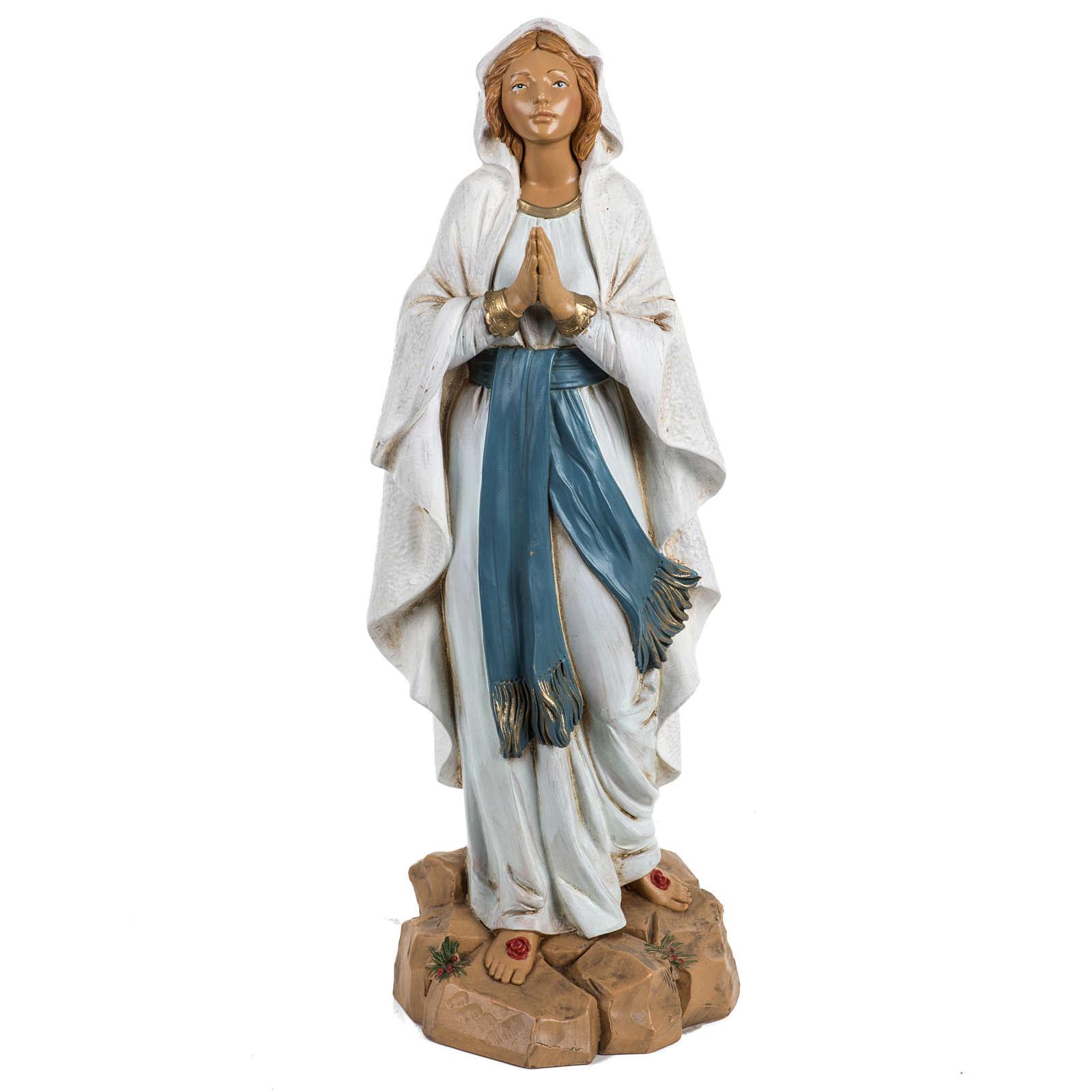 Nossa Senhora de Lourdes 30 cm Fontanini efeito madeira 4