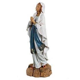Nossa Senhora de Lourdes 30 cm Fontanini efeito madeira s2