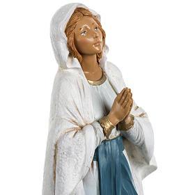 Nossa Senhora de Lourdes 30 cm Fontanini efeito madeira s3