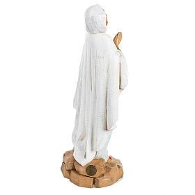 Nossa Senhora de Lourdes 30 cm Fontanini efeito madeira s4