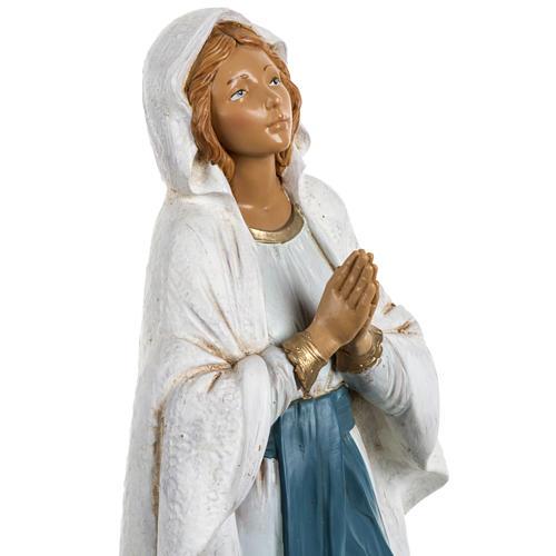 Nossa Senhora de Lourdes 30 cm Fontanini efeito madeira 3
