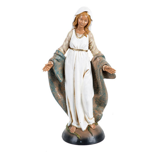 Notre-Dame Immaculée 30 cm Fontanini finition bois 1