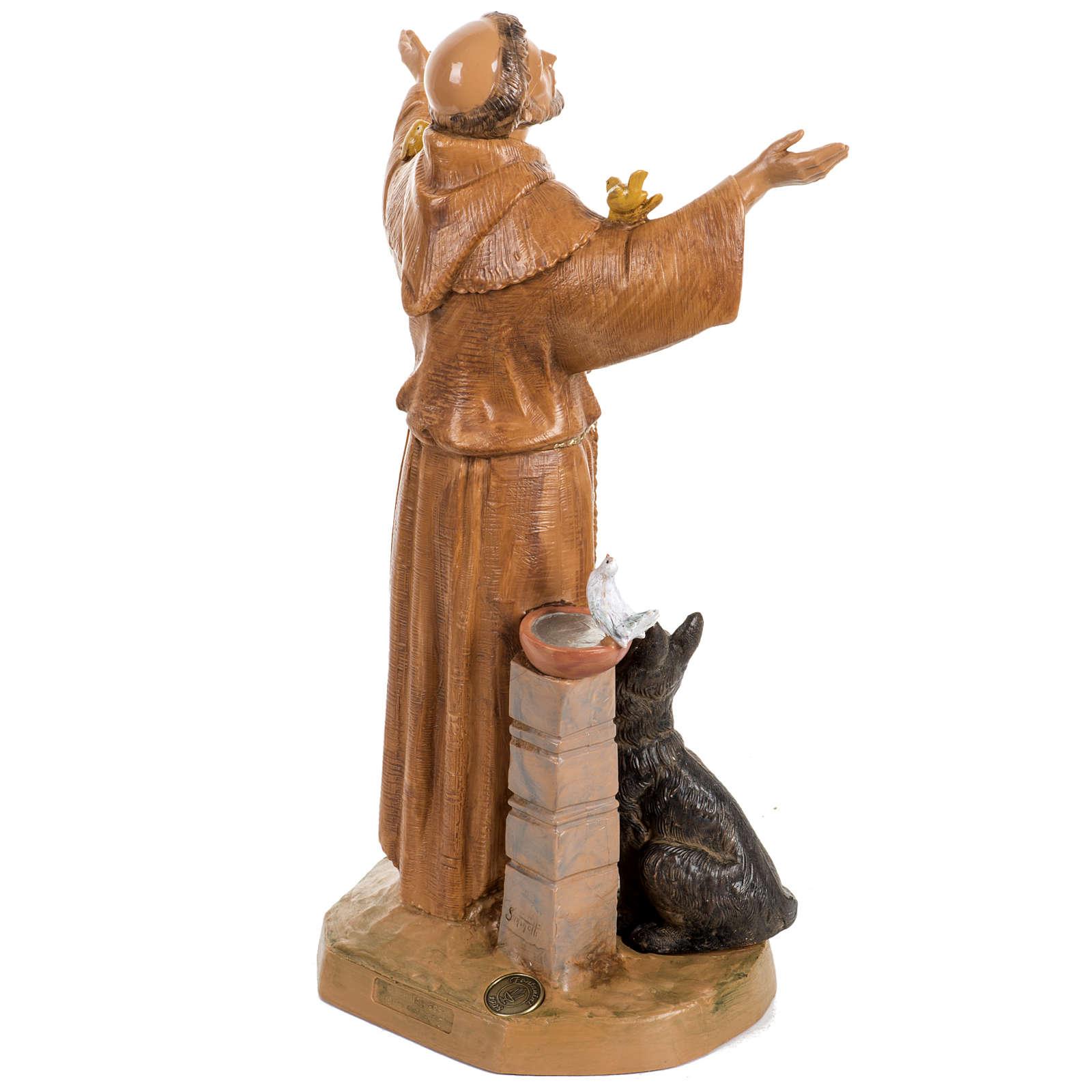 Saint Francois de Assisi 30 cm Fontanini finition bois 4