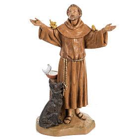 Saint Francois de Assisi 30 cm Fontanini finition bois s1
