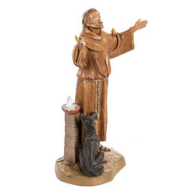 Saint Francois de Assisi 30 cm Fontanini finition bois s2