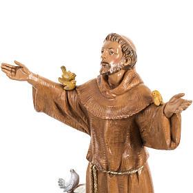 Saint Francois de Assisi 30 cm Fontanini finition bois s3