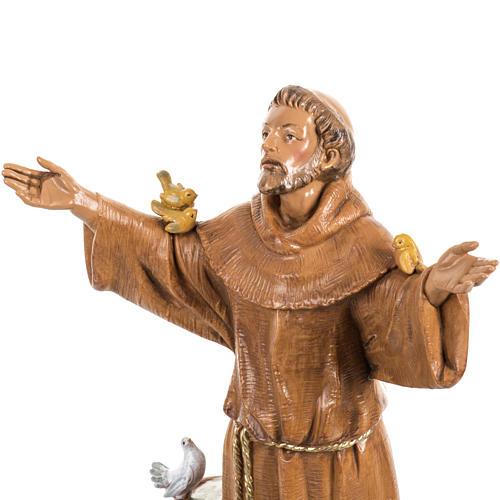San Francesco d'Assisi 30 cm Fontanini tipo legno 3