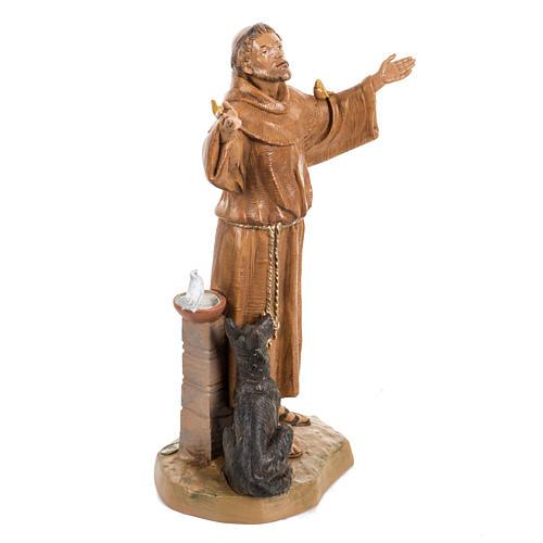 São Francisco de Assis 30 cm Fontanini efeito madeira