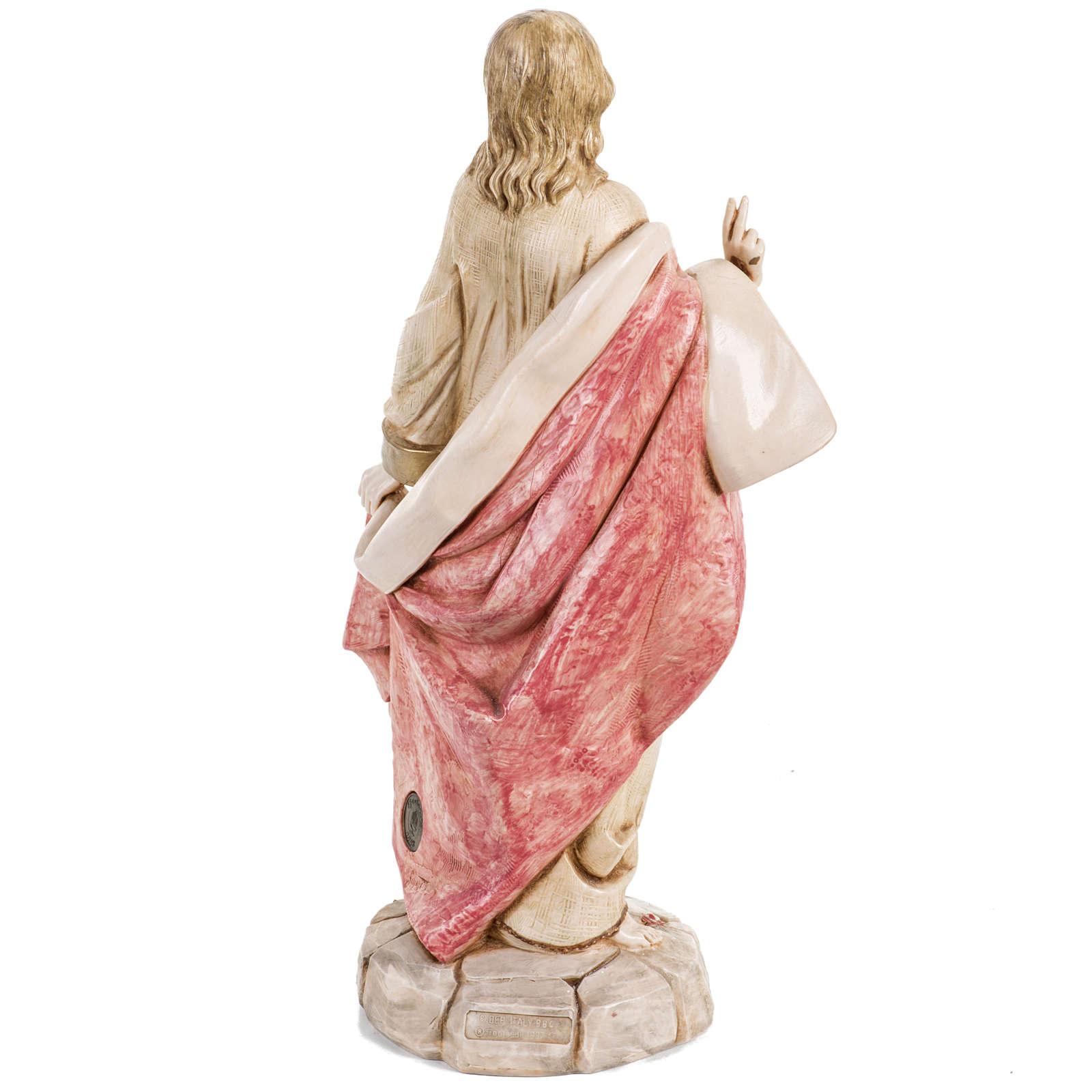 Sacro Cuore di Gesù 30 cm Fontanini tipo porcellana 4