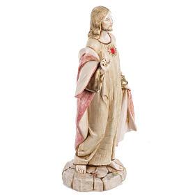 Sacro Cuore di Gesù 30 cm Fontanini tipo porcellana s3