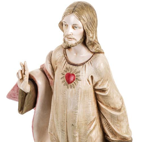 Sacro Cuore di Gesù 30 cm Fontanini tipo porcellana 2
