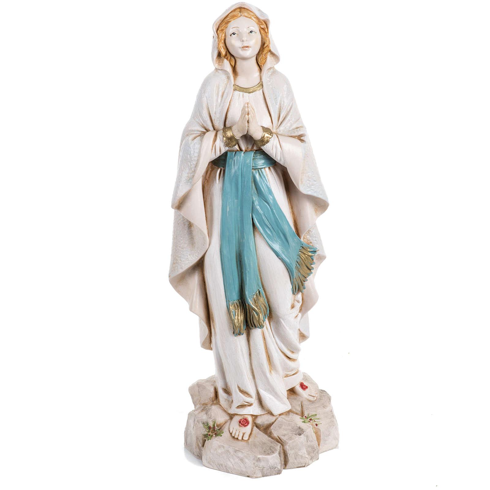 Madonna di Lourdes 30 cm Fontanini tipo porcellana 4