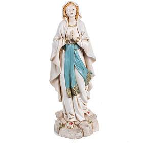 Madonna di Lourdes 30 cm Fontanini tipo porcellana s1