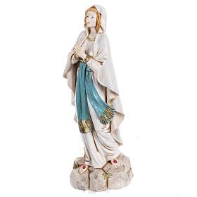 Madonna di Lourdes 30 cm Fontanini tipo porcellana s2