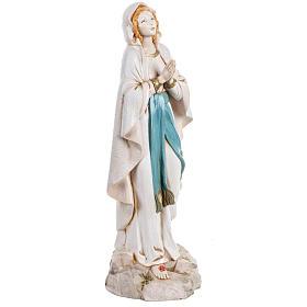 Madonna di Lourdes 30 cm Fontanini tipo porcellana s3