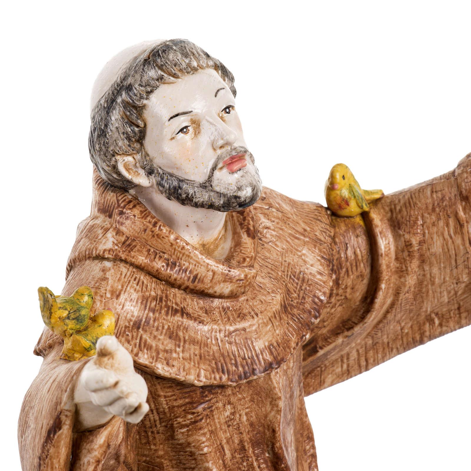 San Francesco d'Assisi 30 cm Fontanini tipo porcellana 4