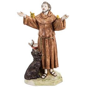 San Francesco d'Assisi 30 cm Fontanini tipo porcellana s1