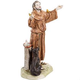 San Francesco d'Assisi 30 cm Fontanini tipo porcellana s2