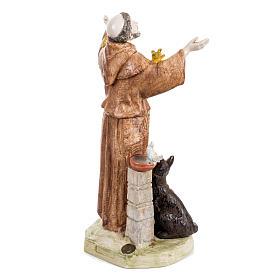 San Francesco d'Assisi 30 cm Fontanini tipo porcellana s4