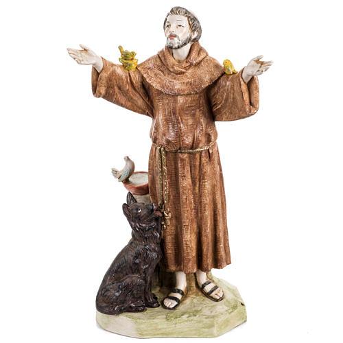 San Francesco d'Assisi 30 cm Fontanini tipo porcellana 1